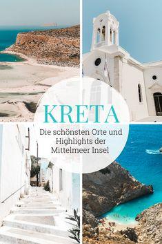 Erfahre auf unserem Kreta Reiseblog alles über deinen nächsten Urlaub auf der größten griechischen Insel im Mittelmeer. Insidertipps, die schönsten Strände, Städte, Ausflugstipps und vieles mehr. #kreta #kretatipps #kretareise #crete #kretaurlaub Greece Travel, Greece Trip, Crete, Greek Islands, Vacation Spots, Travel Around, Beautiful World, Around The Worlds, Places