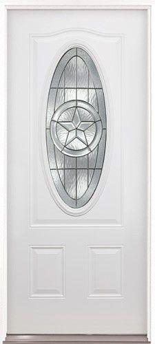 3/4 Oval Texas Star Prehung Steel Door #60   Front Entry Door From