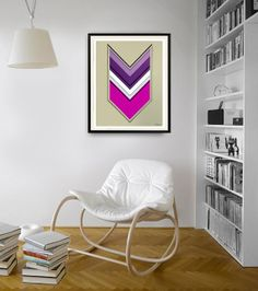 Original abstract painting on paper. Arrow painting. by JoDiquez