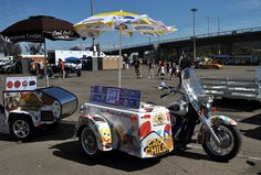 Something new for event catering... sidecar ice cream delivery.. Cool! | populary car