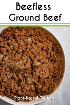 Meatless Crumbles Recipe, Recipes With Veggie Crumbles, Veggie Meat Recipes, Pork Recipes, Dog Food Recipes, Healthy Recipes, Meatless Ground Beef, Vegan Ground Beef, Vegan Beef