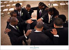 Phylicia and Mark's Grand Marquis Wedding in Raleigh, NC...this is a nice picture to take of the groomsmen