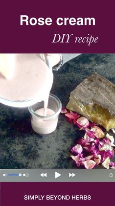 Rose cream,Simply beyond herbs – videos A successful combination of rose water, rose infused oil and rose essential oil gives this cream outstanding benefits for your skin. Homemade Skin Care, Homemade Beauty Products, Diy Skin Care, Homemade Shampoo Recipes, Homemade Body Lotion, Homemade Face Moisturizer, Homemade Facial Mask, Ayurvedic Skin Care, Diy Body Butter