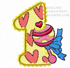 Free Embroidery Design: Number 1
