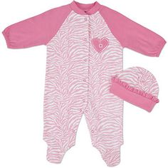 A zebra pajama set for 8.00 for little baby girls at Walmart.