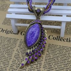Vintage jewelry Small beads Drop Pendant Crystal angel wing Necklaces women costume dress Free Shipping N587 $3.49