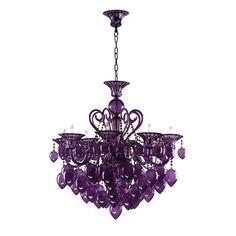 Cyan Design 02996 8 Light Chandelier, Purple