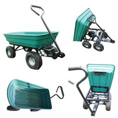 New Heavy Duty Garden Trolley Cart Tipper Tipping Trailer Dump Wheelbarrow Truck | eBay