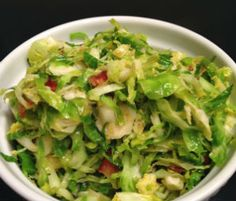 Brussels Sprouts with Bacon and Honey Orange Dressing -Momo