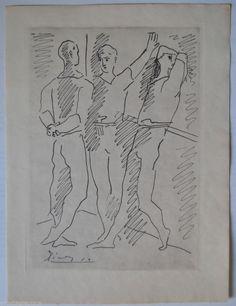 PABLO PICASSO Sagesse aus Grace et mouvement 1943 signiert i. Dr.