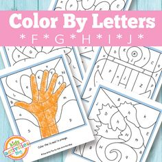 Color By Letters F G H I J Free Kids Printable