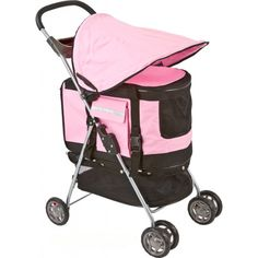 PET STROLLER, PUSHCHAIR FOR PETS PINK