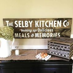 23 Rustic Country Kitchen Design Ideas to Jump Start Your Next Remodel - The Trending House Wooden Kitchen Signs, Vintage Kitchen, Kitchen Furniture, Wood Kitchen, Kitchen Decor, Wooden Kitchen, Kitchen Design, Wood Kitchen Signs, Vintage Kitchen Signs