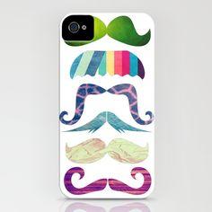 mustache BOOM  IPHONE CASE / IPHONE (4S, 4) by Li9z  http://society6.com/Li9z/mustache-BOOM_iPhone-Case#9=43