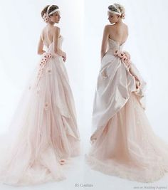 Bustle- inspired wedding dress