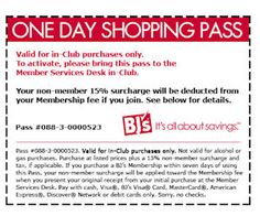BJ's Wholesale Club - Free 1-Day Shopping Pass with Coupon - Free Product Samples