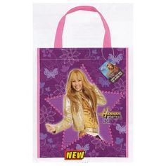 "Hannah Montana Party Tote Bag. 13""H x 11""W"