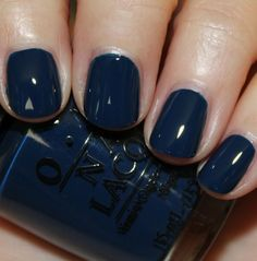 OPI I Saw…U Saw…We Saw…Warsaw - a dark teal-toned blue creme - This looks like a dark blue that would work with my weird neutral-warm skintone...just wish it had shimmer!