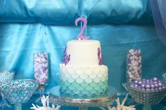 Scalloped ombre cake - #cake #kidsparty