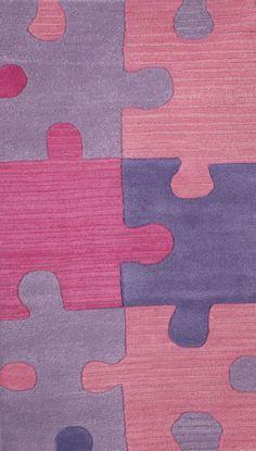 Abacasa Abacasa Kids Puzzles Pink Rug