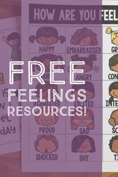 Free Feelings Charts and Writing Prompts to add to your school counseling or classroom resources.