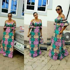 Mind Blow Ankara Long Gown Styles For Beautiful Ladies .Mind Blow Ankara Long Gown Styles For Beautiful Ladies Latest African Fashion Dresses, African Dresses For Women, African Print Dresses, African Print Fashion, Africa Fashion, African Attire, African Wear, African Women, Unique Ankara Styles