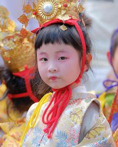 child of festivity. Jishu-matsuri festival. Kyoto. Japan.