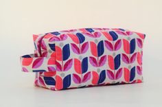 Abstract Tulip Quilted Cosmetic & Storage by DoreensBabyBoutique
