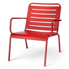 Introduce A Bright Spot On The Deck Or Patio With Metal Deep Seat Chair From Room Essentials This Comes In Vivid Red And Is