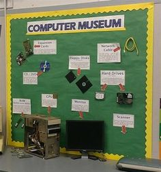 Computer Museum Bulletin Board {For all those spare parts you find throughout the building! Display in the computer lab.}