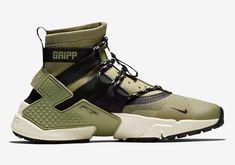 Nike Air Huarache Gripp Olive Release Date Nike Air Huarache, Tenis Nike Air, Adidas Design, Desert Boots, Nike Outfits, Reebok, Shoe Releases, Jordan Shoes Girls, Best Sneakers