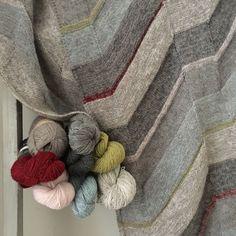 Isager Tokyo shawl with Isager yarns at Loop London
