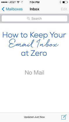 Keep your email inbox at zero