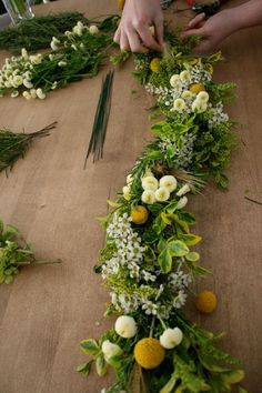 DIY fresh floral garland