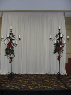 ways to swag pipe and drape backdrop | Reservation
