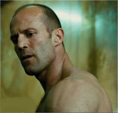Jason (Frank)~I'm thinking this look is reminiscent of a 'huh, why is it I'm always sans clothing when I come to...' perhaps because that sexy physique demands screen time...lol!-courtesy Transporter 3