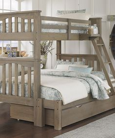 Love this Driftwood Highlands Harper Twin Over Full Trundle Bunk Bed on #zulily! #zulilyfinds