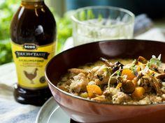 Kyllingsuppe med sopp og rotgrønnsaker Curry, Ethnic Recipes, Food, Curries, Essen, Meals, Yemek, Eten