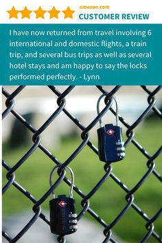 Tarriss TSA Lock - Secure you luggage, and your peace of mind, from thieves on the plane, in the airport and in your hotel room. #travelgift #travelaccessory #travelsafety