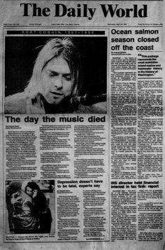 The day the music died. Kurt Cobain of Nirvana 90s Grunge, Grunge Outfits, Grunge Look, Grunge Style, Soft Grunge, Music Is Life, My Music, Kurt Corbain, Nirvana Kurt Cobain