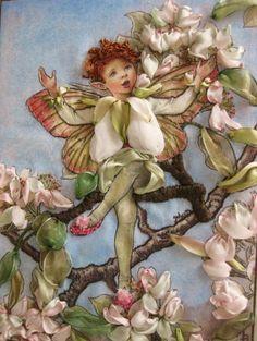 FLOWER FAIRIES Fantasy Vintage Glass Charm Pendant Accessory Fairy Fairytale