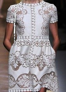Valentino Lace Dress Haute Couture Spring Summer 2012