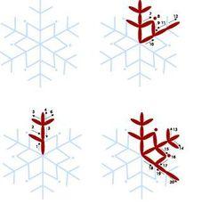 """Скатерть """"Снежинка"""": как вышить узор"""