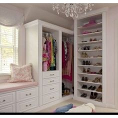 Love the built in dresser/closet!