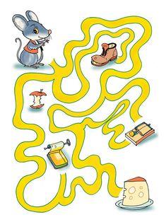 Mazes For Kids Printable, Printable Preschool Worksheets, Preschool Curriculum, Worksheets For Kids, Preschool Activities, Kindergarten, Logic Games For Kids, Educational Games For Kids, Maze Worksheet