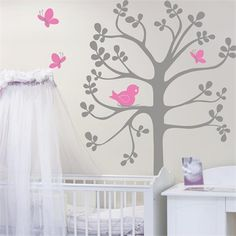 Rosenberry Rooms is offering a 10% discount on your purchase of $350 or more.  Share the news and take advantage of the savings! Spring Tree Birds and Butterflies Wall Decal #rosenberryrooms