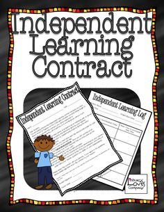 Independent Learning Contract FREEBIE for math to use with TAG (Talented and Gifted) math students.