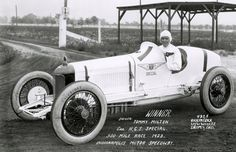 Indy 500 winner 1923: Tommy Milton Starting Position: 1 Race Time: 5:29:50.170 Chassis/engine: Miller/Miller