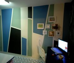 Paint Block Designs On Walls | DIY Design Sly: Zig and Zag Color Blocks