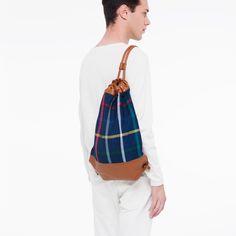 Twist Blue Check. HB/78 www.thehentenbag.com #purses #bags #fashion